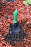 trädgårds- skyffel Arkivfoto