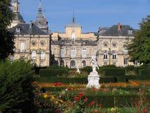 trädgårds- slott segovia spain Royaltyfri Foto