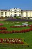 trädgårds- slottschonbrunn vienna för slott Arkivbild