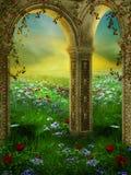 trädgårds- sommar 3 royaltyfri illustrationer