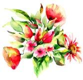trädgårds- sommar för blomningblommor Royaltyfria Foton