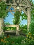 trädgårds- springtime 6 stock illustrationer