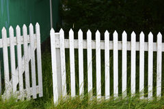 Trädgårds- staket royaltyfria bilder
