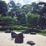 trädgårds- sten fotografering för bildbyråer