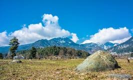 Trädgårds- sten och himmel Royaltyfri Bild