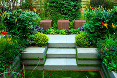 trädgårds- stillsamt arkivfoto