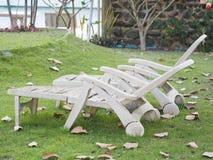 Trädgårds- stol Royaltyfria Foton