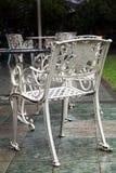 Trädgårds- stolar för metall Royaltyfri Foto
