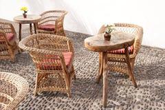 Trädgårds- stolar på madeira fotografering för bildbyråer