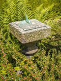 trädgårds- sundial Fotografering för Bildbyråer