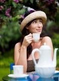 trädgårds- tea Royaltyfria Bilder