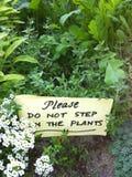 Trädgårds- tecken Arkivbilder