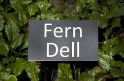 Trädgårds- tecken för ormbunke Royaltyfri Fotografi