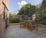 trädgårds- terrass royaltyfri foto