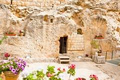 Trädgårds- Tomb i Jerusalem, Israel fotografering för bildbyråer