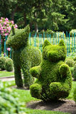 trädgårds- topiaryunicorn för björn Royaltyfria Foton