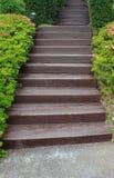 trädgårds- trappa arkivfoton
