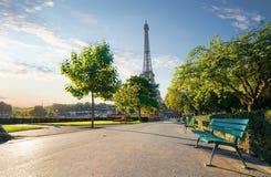 Trädgårds- Trocadero i Paris Royaltyfria Bilder