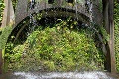 trädgårds- tropisk vattenfall Fotografering för Bildbyråer