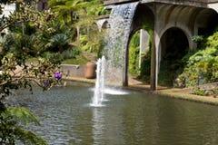 trädgårds- tropisk vattenfall Arkivbilder