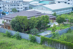 trädgårds- utgångspunkt Arkivbilder