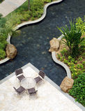 trädgårds- utomhus- uteplats för möblemang Royaltyfri Fotografi