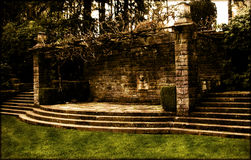 trädgårds- vägg Royaltyfria Bilder