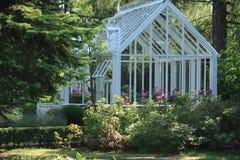 Trädgårds- växthus Arkivbild