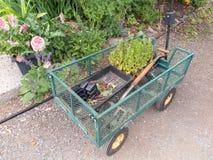 Trädgårds- vagn arkivbilder