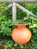 trädgårds- vase Arkivbild