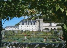trädgårds- villandry för fransman arkivbilder