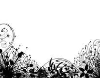 trädgårds- vinter för silhouette 2 stock illustrationer