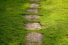 trädgårds- walkway arkivfoto