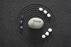 trädgårds- zen för energi arkivfoto