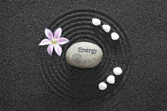 trädgårds- zen för energi arkivbild
