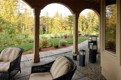 trädgårdsikt royaltyfri fotografi