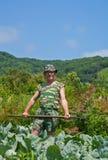 Trädgårdsmästare med hacka 13 Royaltyfri Foto