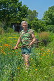 Trädgårdsmästare med hacka 10 Royaltyfri Fotografi