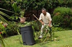 Trädgårdsmästare på arbete Arkivfoto