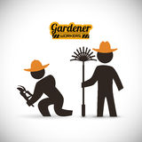 Trädgårdsmästaredesign Arkivbild
