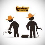 Trädgårdsmästaredesign Royaltyfri Foto