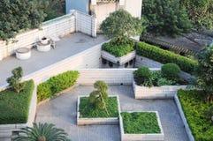 trädgårdsnäringrooftop Arkivbilder