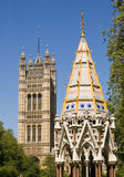 trädgårdtorn victoria westminster Arkivfoto