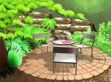 trädgårdträdgård stock illustrationer
