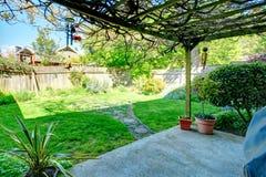 Trädgårduteplatsområde Fotografering för Bildbyråer