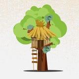 Trädhus - Royaltyfri Bild