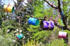 trädhus för fåglarna, gladlynta apartmen Royaltyfri Fotografi