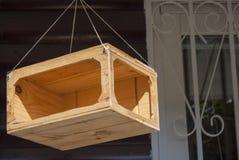 trädhus för fåglarna, gladlynta apartmen Själv-gjort Royaltyfri Bild