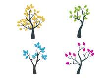 Trädlogo stock illustrationer