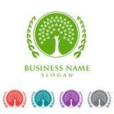 Trädlogo, logodesign Arkivfoto